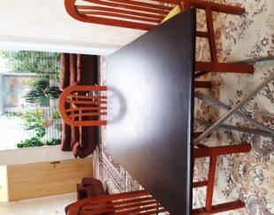 میز تاشو MDF  همراه ۴ عدد صندلی
