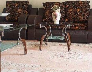 میز جلو مبلی ۳ تیکه ای شیشه ای