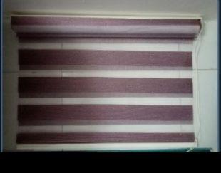پرده زبرا کالباسی رنگ ابعاد ۹۰ در قد ۲ متر