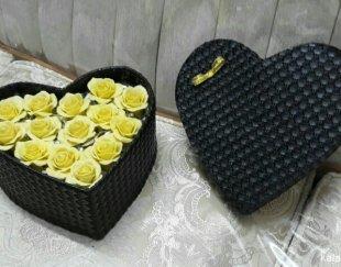 باکس گل تمام چرم گل رزنباتی