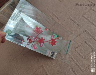 گلدان بسیار زیبا نو شیشه ای
