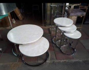 تولید میز عسلی و جلو مبلی ابکاری فورتیک و کروم