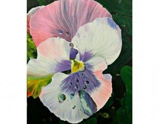تابلوی نقاشی زنده از گل