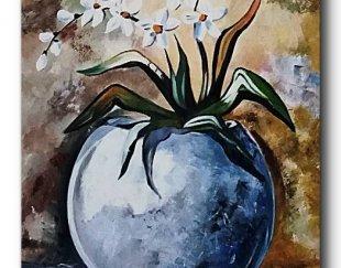 تابلو نقاشی گلدان