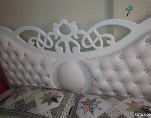تخت دونفره کنسول دار بسیارتمیز …مناسب جهیزیه
