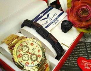ست ساعت دستبند و انگشتر مردانه