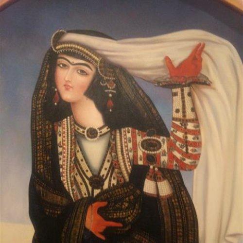 تابلوی زن قاجار