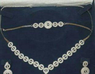 سرویس طلا سفید جواهر نما