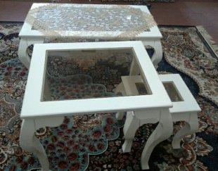 میز و عسلی چوبی سفید