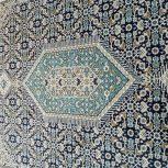 دو تخته فرش زمینه سرمه ای