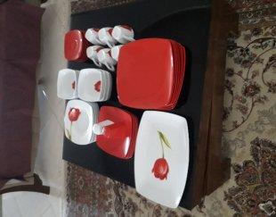 دو دست سرویس غذاخوری ۶ نفره دالتون گل قرمز