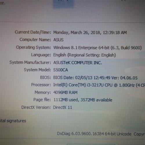 لپ تاپ Asus, S550CA, screen touch