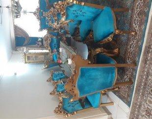 مبل سلطنتی ورق طلا به همراه میز ناهارخوری