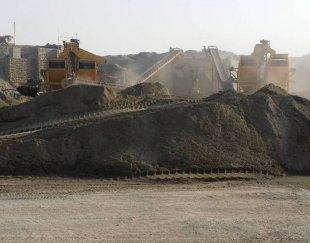 فروش معدن شن و ماسه و سنگ شکن در حال کار