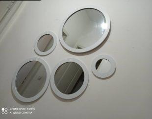 آینه دکورتیو،آینه گرد،آینه دکوراتیو ۵تایی