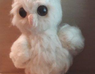 عروسک  جغد  نو ساخت دست تهیه شده از الیاف کچه