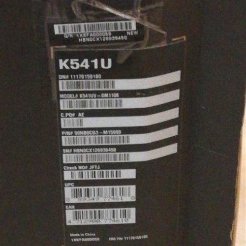 لپ تاپ Asus K541UV 1108 نو و بسته بندی