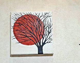 تابلو طرح درخت