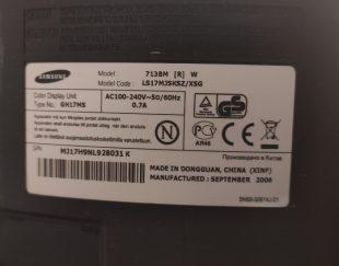 مانیتور ۱۷ اینچ Samsung با کابل برق و vga