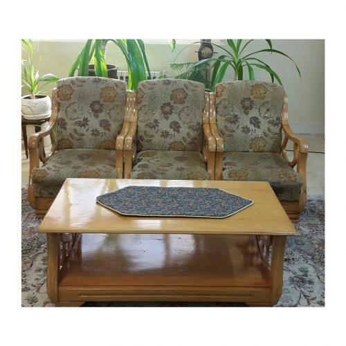 فروش مبل ۸ نفره چوب روس با میز