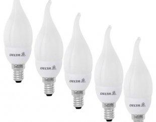 لامپ شمعی کم مصرف لوستر