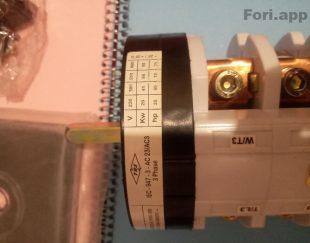 کلید سلکتور (گردان) سه فاز ، یکطرفه ، ۱۰۰ آمپر ، TRS