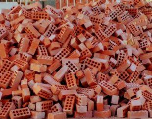 تولید و فروش آجر سفال قرمز ده سوراخ هفت سانت و آجر گره ای