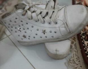 نیم بوت سایز ۳۷ ستاره ای سفید