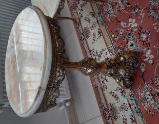 میز تلفن برونز بارویه سنگ مرمر
