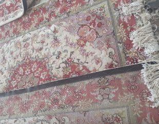 فرش دستبافت گل ابریشم طرح علیا نو با قالیچه