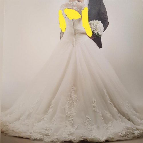 لباس عروس ایتالیایی – سایز ۳۸_۴۰