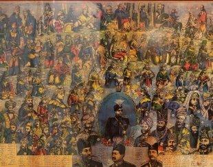 قاب تابلو آنتیک شاهان ایران