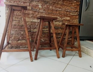 پایه چوبی  سه تایی ( زیر گلدانی )