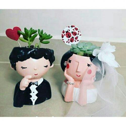 گلدان فانتزی طرح عروس و داماد