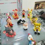 ساخت انواع عروسک و گلهای خمیری