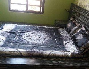 تخت دو تمیز با همراه تشک درحد نو