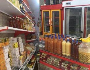کلیه لوازم سبزی فروشی همراه با محصولات
