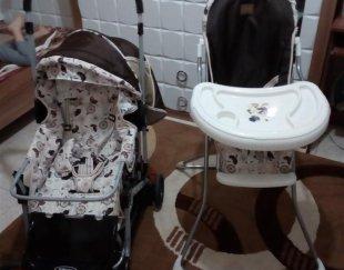 کالسکه و صندلی غذای کودک