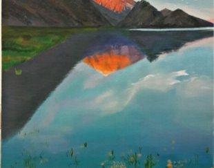 تابلوی نقاشی طبیعت زنده از کوه دماوند