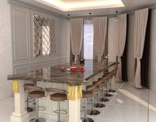 طراحی سه بعدی نما، کابینت آشپزخانه، باغ و ویلا، دکوراسیون داخلی با نرم افزار ۳dmax