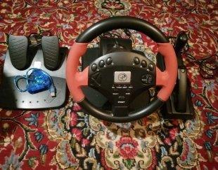 دستگاه PS2 به همراه ست فرمان