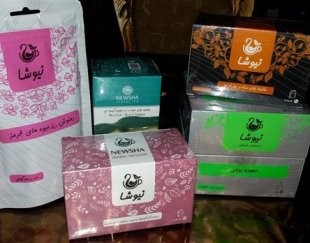 چای و دمنوش های کمک سلامتی شرکت نیوشا