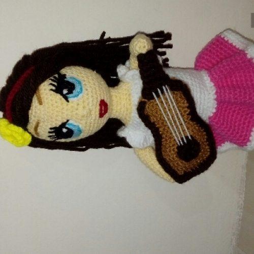 عروسک دخترانه بافت