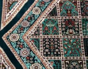 فرش دستبافت ابریشم و گل ابریشم