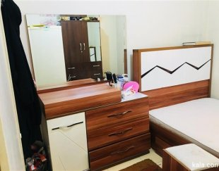 فروش تخت خواب یک نفره ، میز آرایش،پاتختی،صندلی جنس MDF
