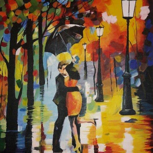 تابلوی نقاشی عاشقانه