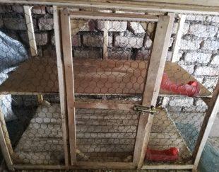 قفس دوطبقه چوبی