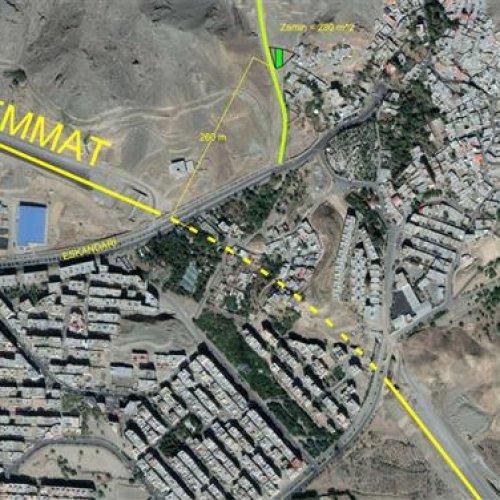 ۲۸۰ متر زمین مسکونی ، ۲۶۰ متری شمال همت