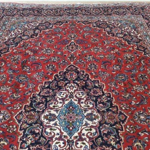 یک جفت فرش دوازده متری دستبافت کاشان تمی