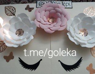 گلهای کاغذی تزئینی